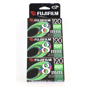 Fujifilm P6-120 8mm Video Cassette  3 Pack