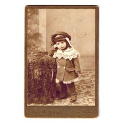 Antique Photo Little Girl circa 1900